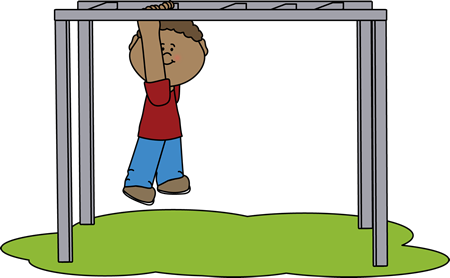 450x278 Kid On The Monkey Bars Clip Art