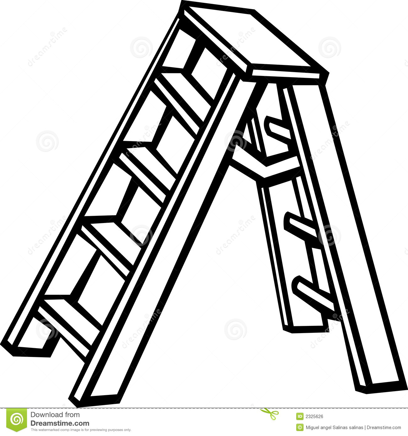 1300x1390 Ladder Black And White Clipart
