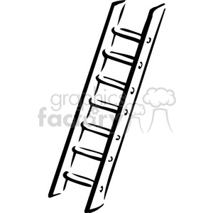 300x300 Royalty Free Black And White Ladder 384919 Vector Clip Art Image