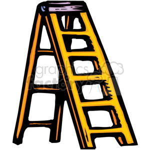 300x300 Royalty Free Yellow Ladder 384940 Vector Clip Art Image
