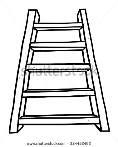 378x470 Stairs Clipart Wooden Ladder