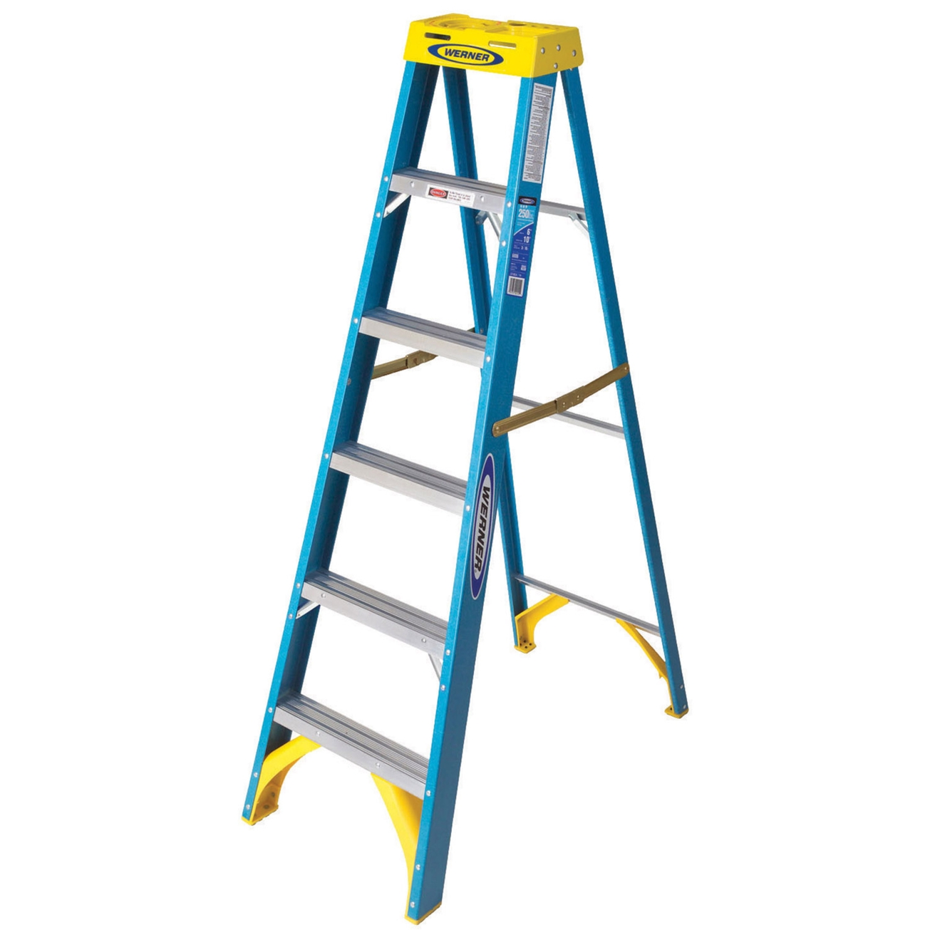 1305x1305 Werner 6 Ft. Type I Fiberglass Step Ladder (6006)