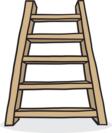 381x453 Wooden Ladder Clipart