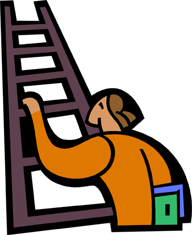 393x480 Man Climbing Ladder Royalty Free Vector Clip Art Illustration