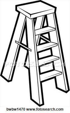 230x370 Black Amp White Clipart Ladder