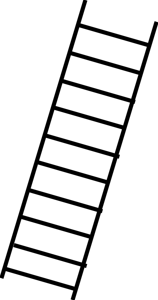 512x974 Brown Clipart Ladder