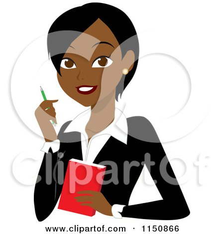 450x470 Clipart Happy Black Businesswoman Off To A Meeting