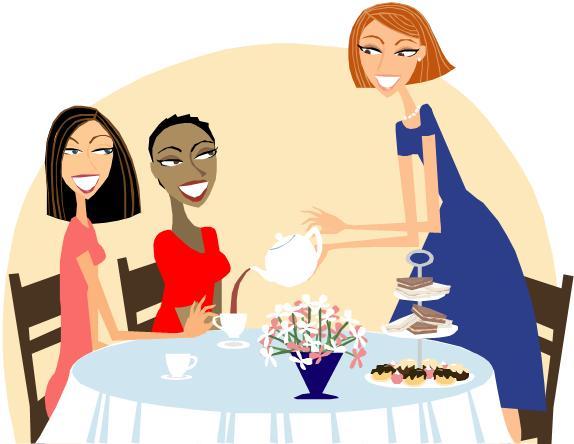 574x444 Women Clipart Tea Party