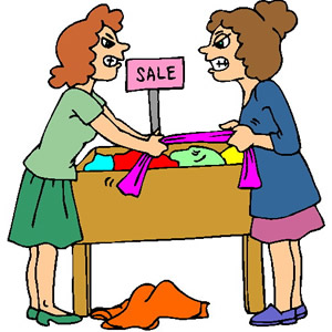 300x300 Funny Ladies Shopping Clip Art Clip Art Of Two Women Fighting
