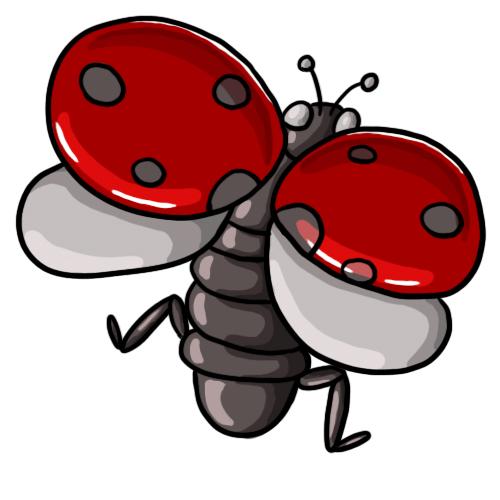 500x500 Free Ladybug Clip Art 12