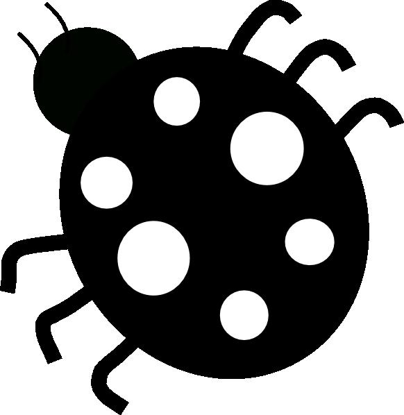 582x598 Ladybug Blackampwhite Clip Art