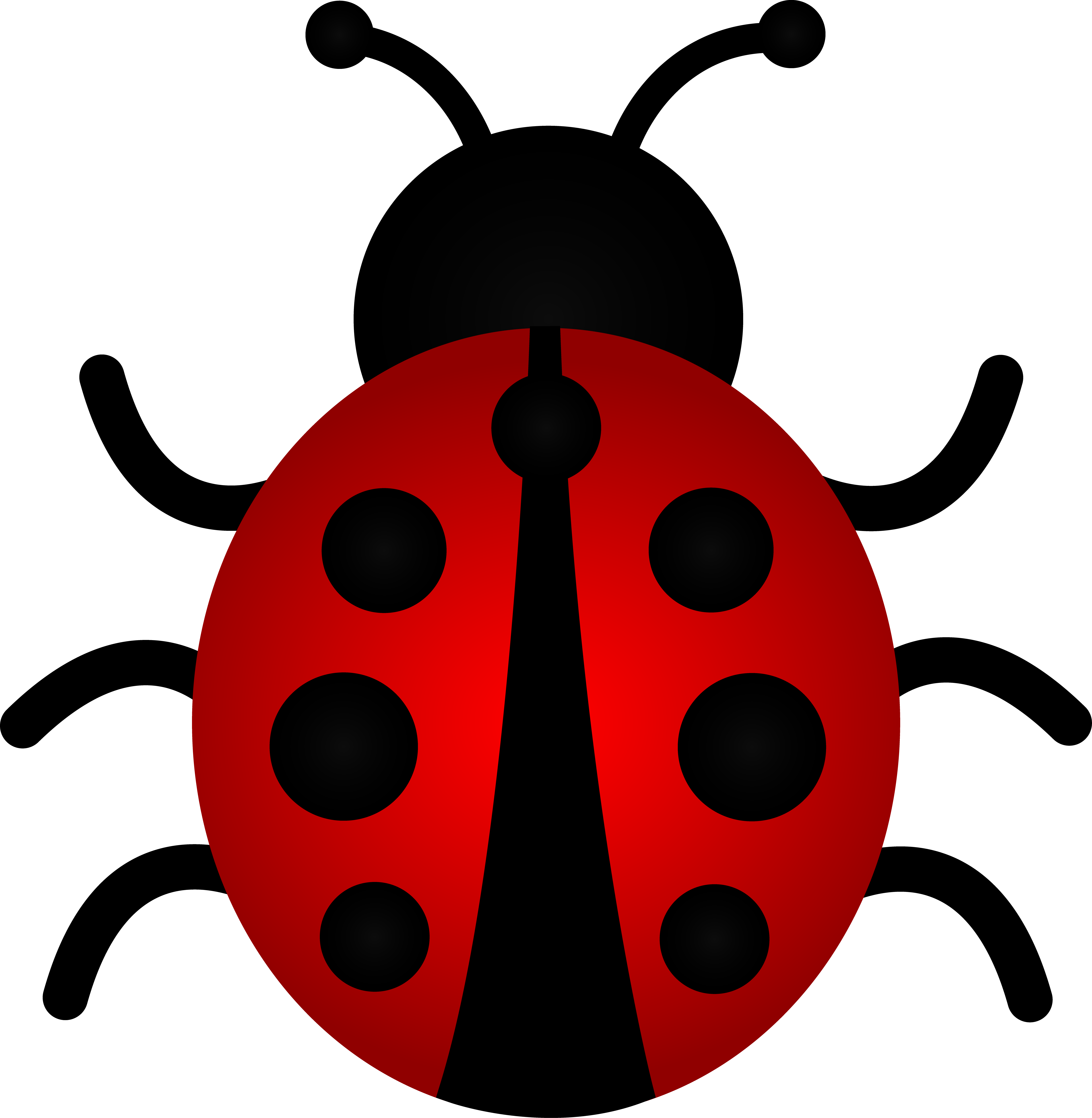 6023x6167 Little Red Ladybug Clip Art