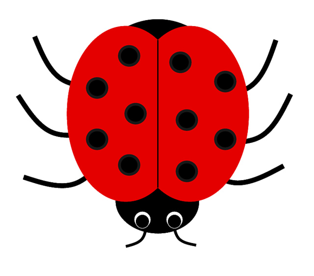 640x562 Number Clipart Ladybug