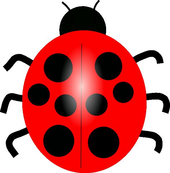 588x596 Red Ladybug Clip Art
