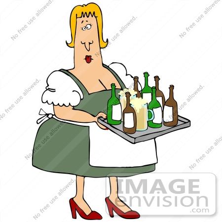 450x450 Clip Art Graphic Of An Overweight Blond Oktoberfest Lady In Heels