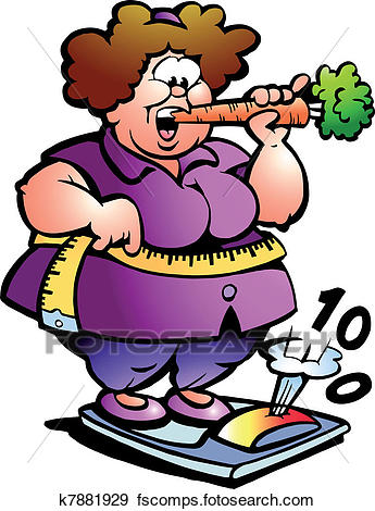 345x470 Clip Art Of Fat Belly Lady K7881929