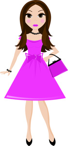 140x300 Clipart Of Lady