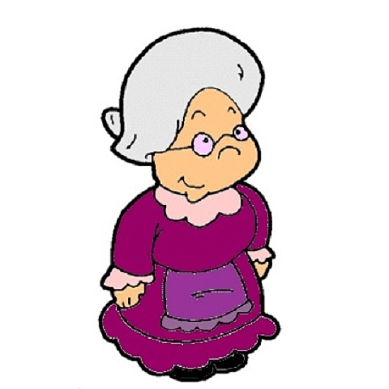 550x550 Cranky Old Lady Clipart