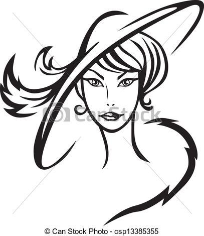 407x470 Beautiful Clipart Pretty Lady