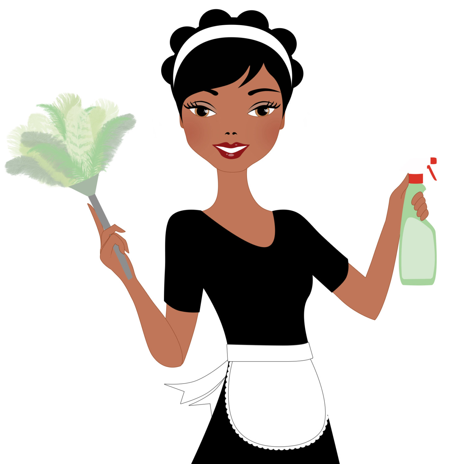 1500x1495 Black Dress Cleaning Lady Clipart