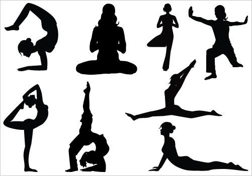 501x351 Lady Yoga Clipart