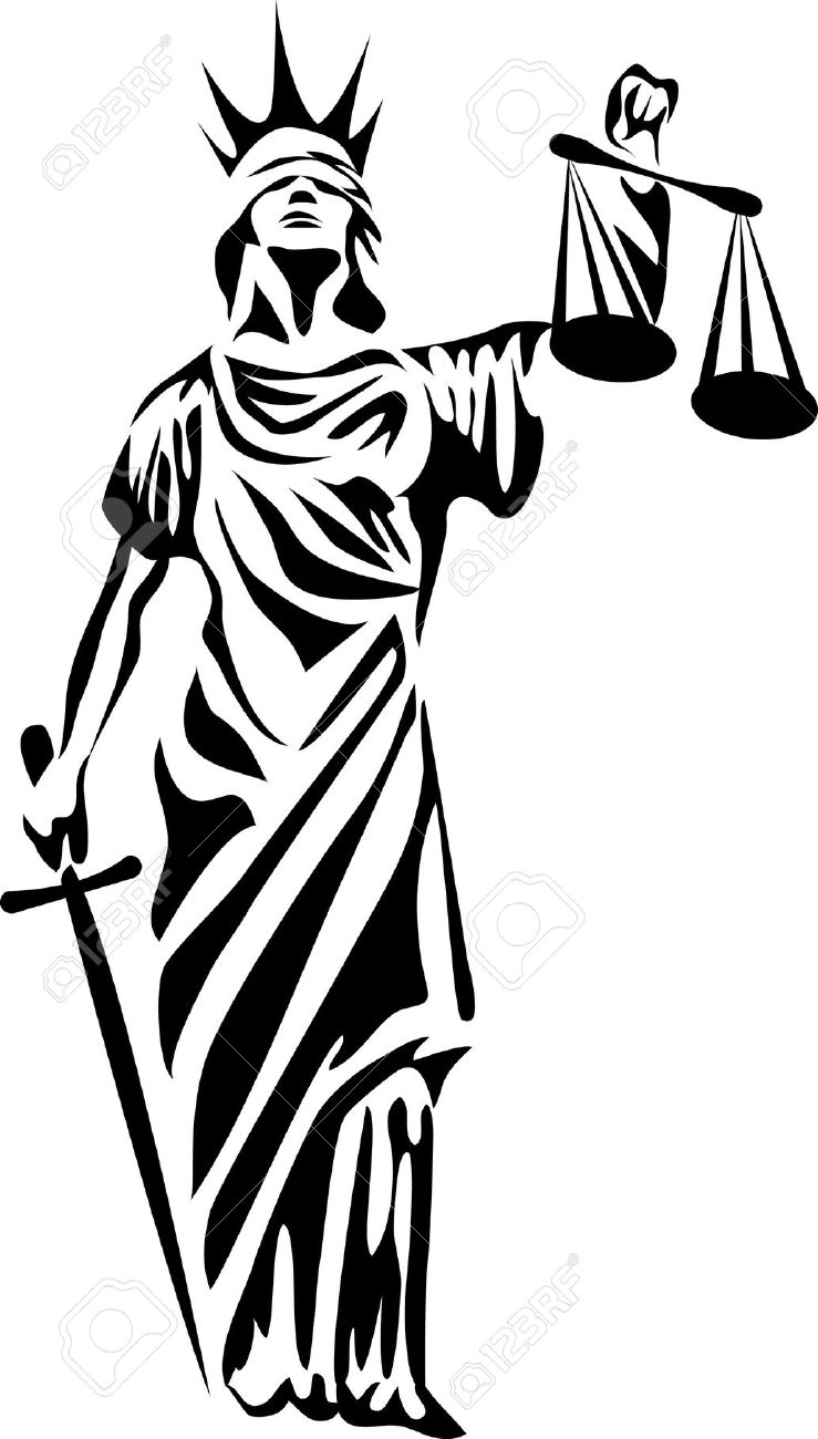 739x1300 Blinds Clipart Lady Justice