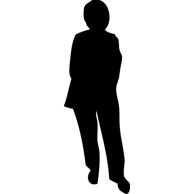 660x660 Old Lady Silhouette Free Vector 123freevectors
