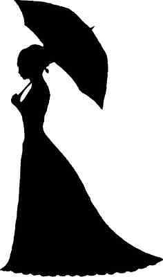 236x400 Victorian Lady With Parasol Silhouettes Victorian