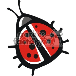Ladybug Black And White Clipart