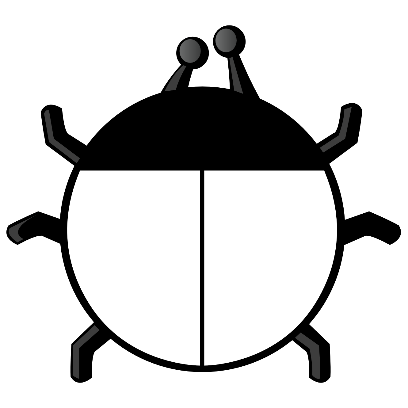 1331x1331 Ladybug Clipart Line