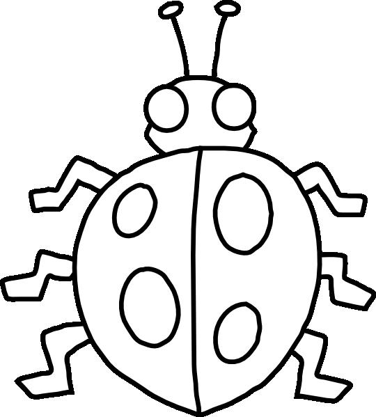 540x599 Ladybug Outline Clipart Free Images