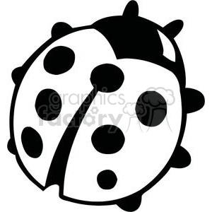 300x300 Royalty Free Black And White Ladybug 379694 Vector Clip Art Image
