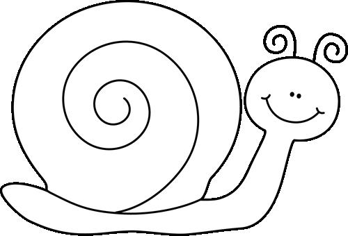 500x340 Black And White Snail Clip Art