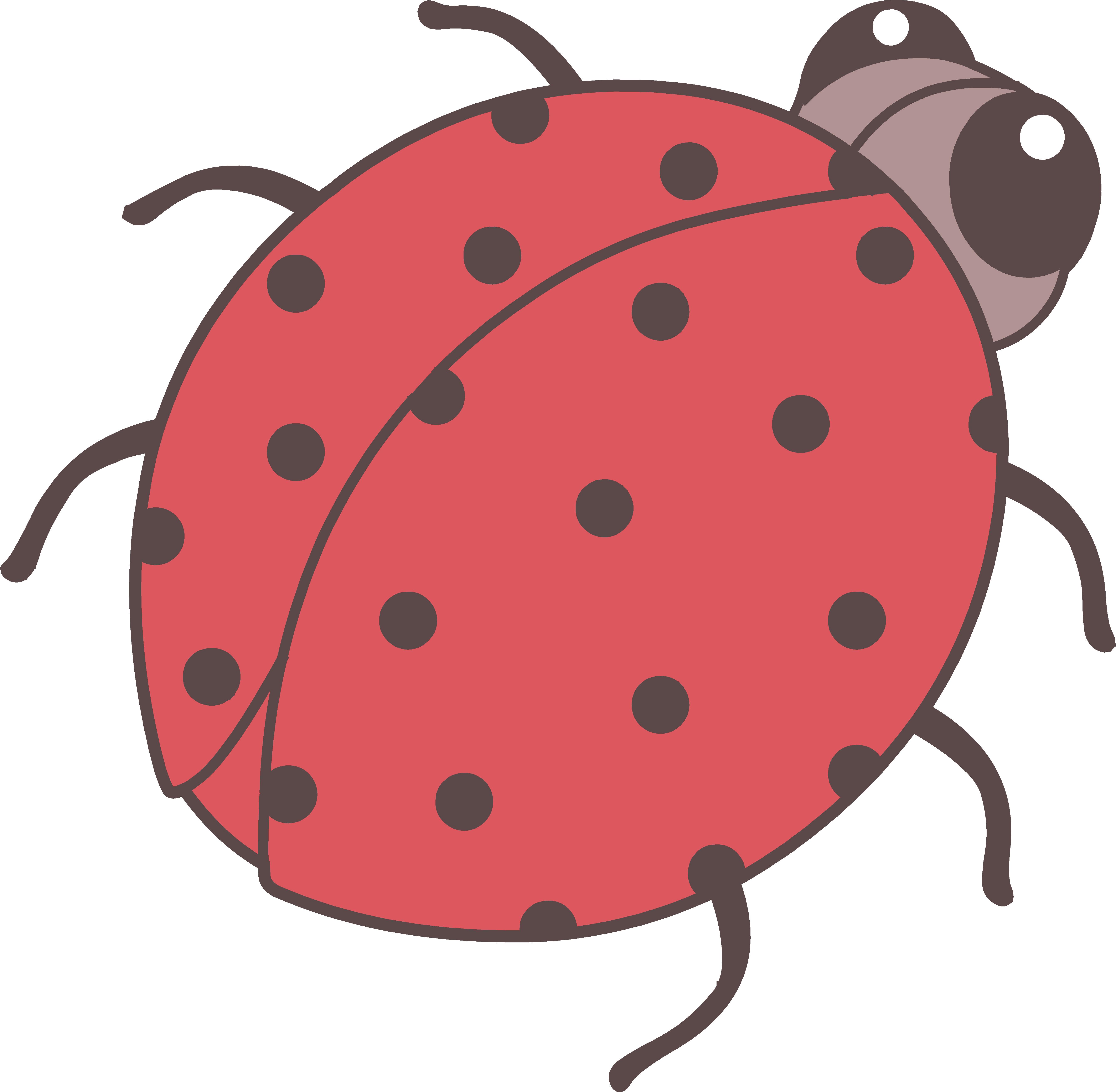 5364x5249 Cute Red Ladybug Clip Art