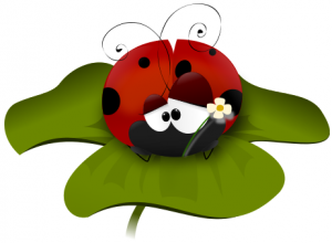 300x220 Distressed Ladybug Clip Art Download