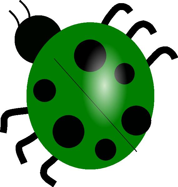 570x596 Green Ladybug Clip Art