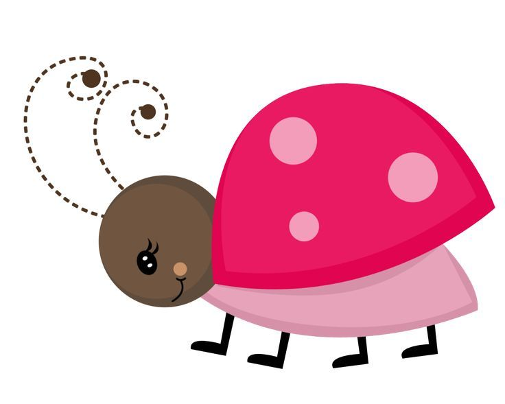 736x589 Ladybug Clipart Pink And Brown