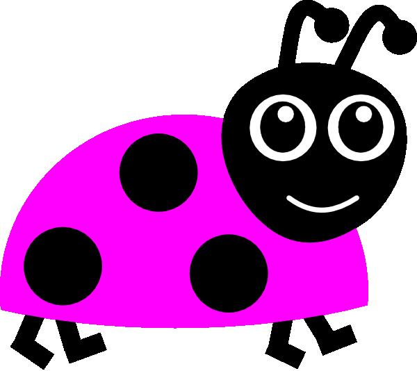 600x534 Pink Ladybug Clipart
