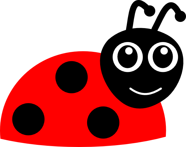 600x476 Cartoon Ladybug Clip Art