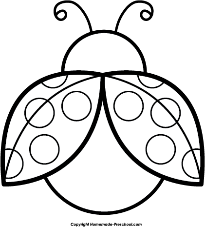 421x465 Drawn Ladybug Outline