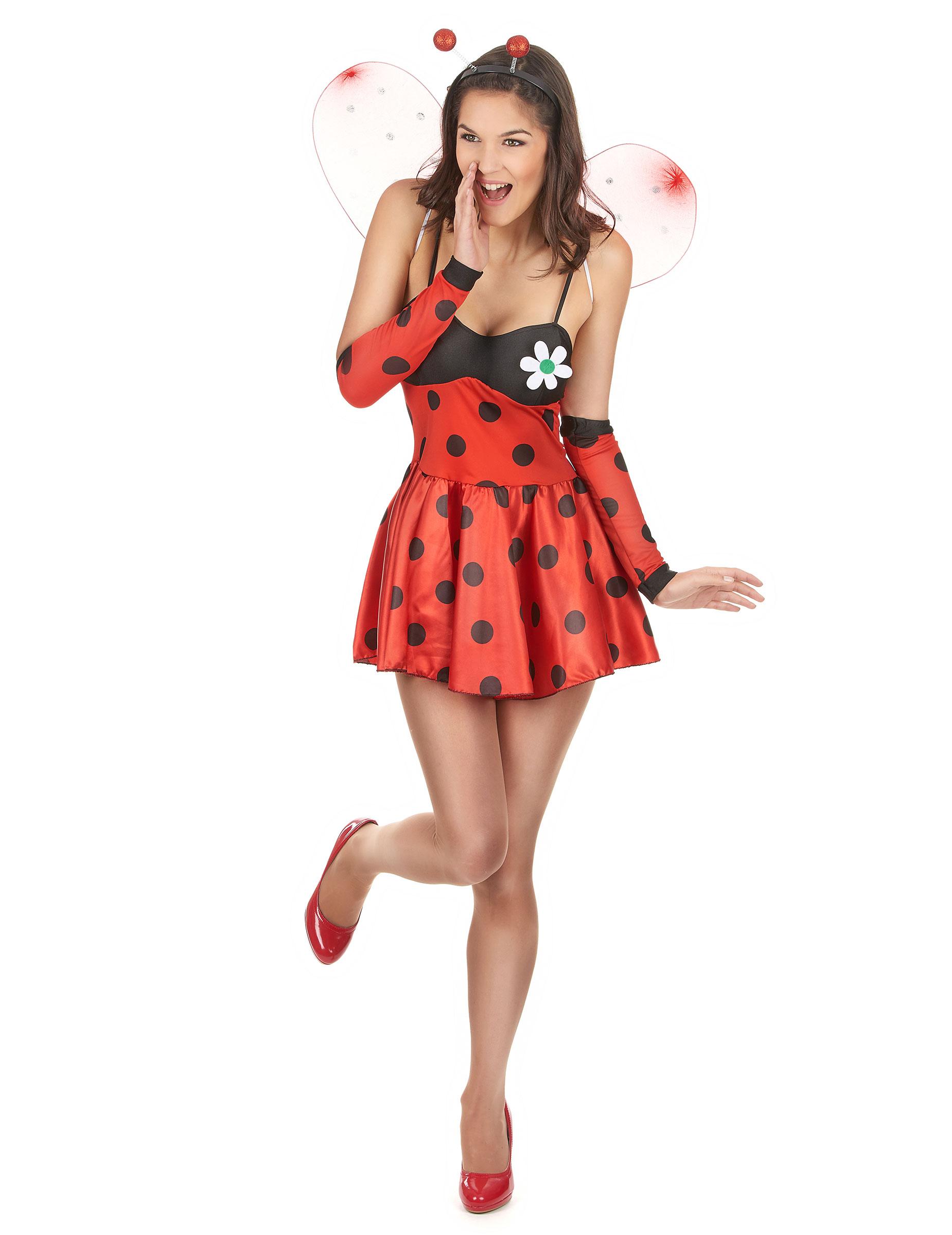 1850x2400 Este Disfraz De Mariquita Sexy Se Compone De Un Vestido, Una Par