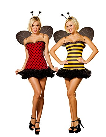 342x439 Dreamgirl Women's Reversible Bumble Beelady Bug