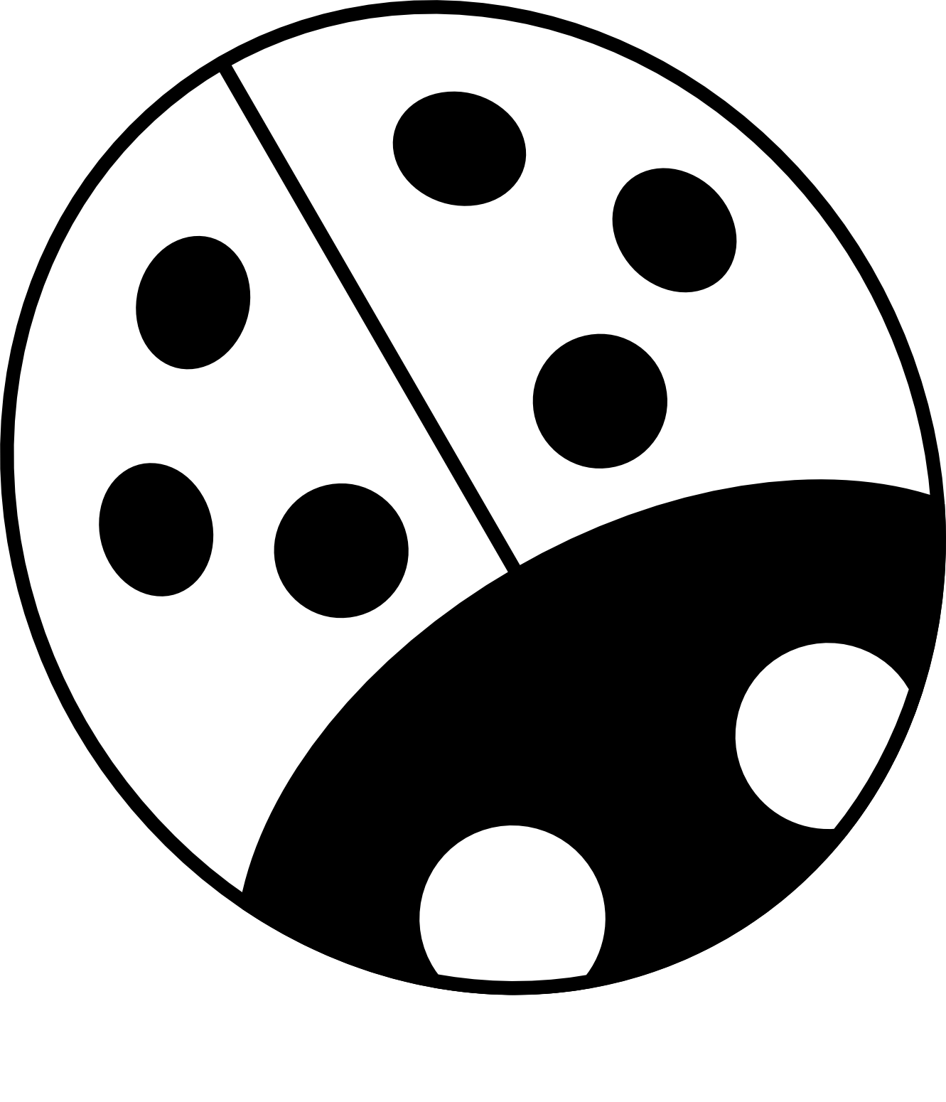 1331x1550 Ladybug Clipart Black And White Clipart Panda