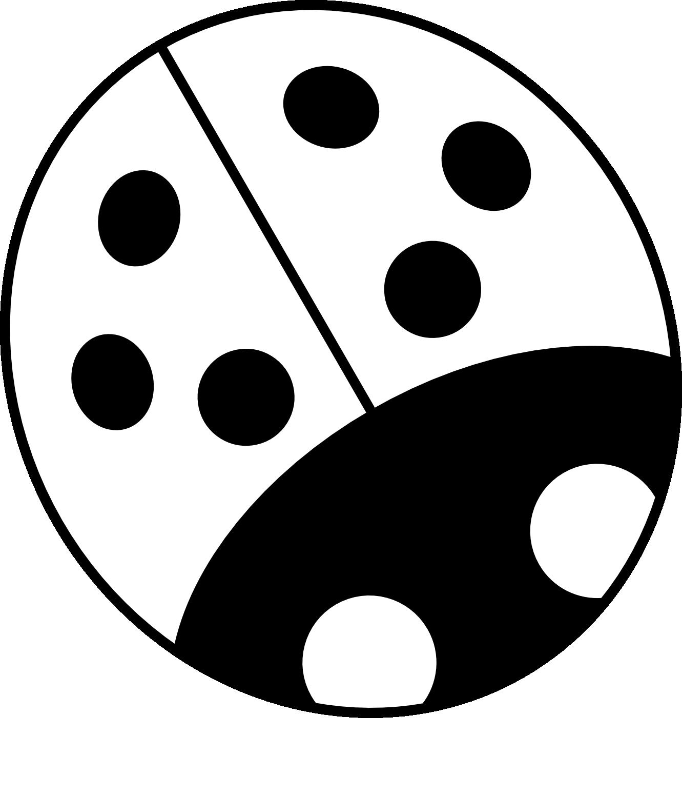 1331x1550 Ladybug Outline Ladybug Black And White Clipart 2