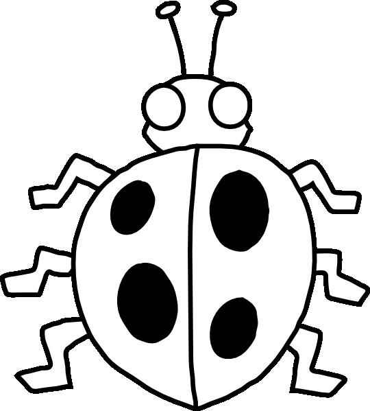540x599 Ladybug Outline Photos Of Ladybug Spots Clip Art Cute