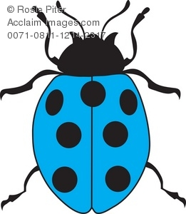 261x300 Free Clipart Illustration Of A Light Blue Ladybug