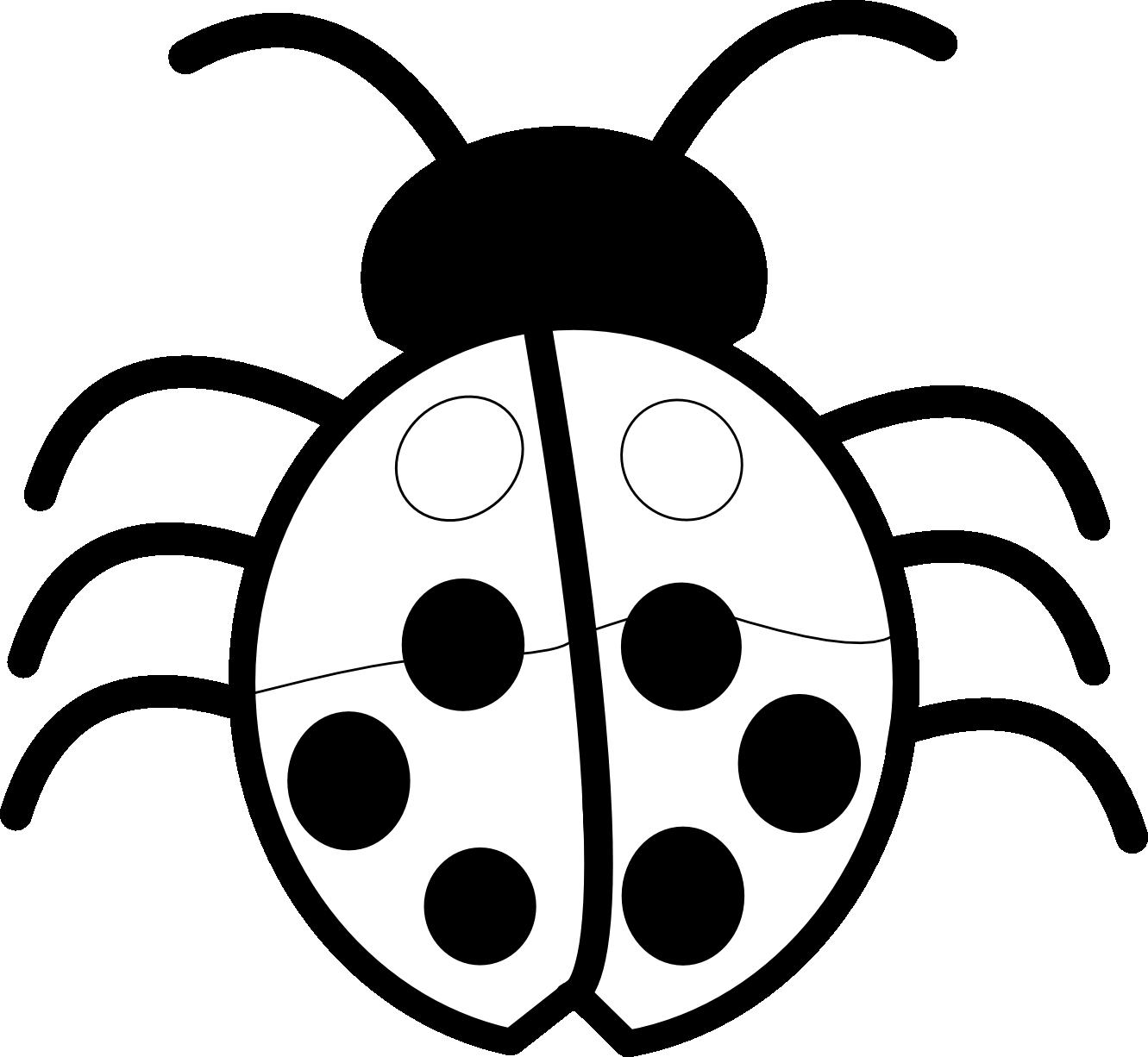 1331x1226 Ladybug Clipart Black And White Free Images