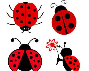 340x270 Ladybug Clipart Cute Button