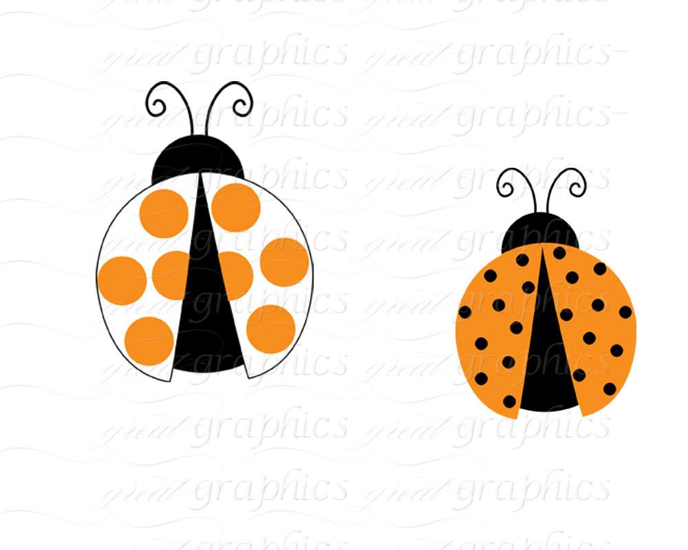 1000x800 Orange Lady Bug Clip Art Ladybug Digital Clip Art Digital Paper
