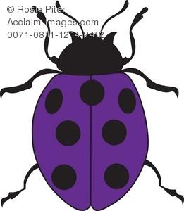 261x300 Purple Ladybug Clipart Amp Stock Photography Acclaim Images